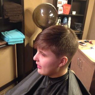 The finished short haircut